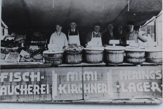 Marktstand im Jahr 1927