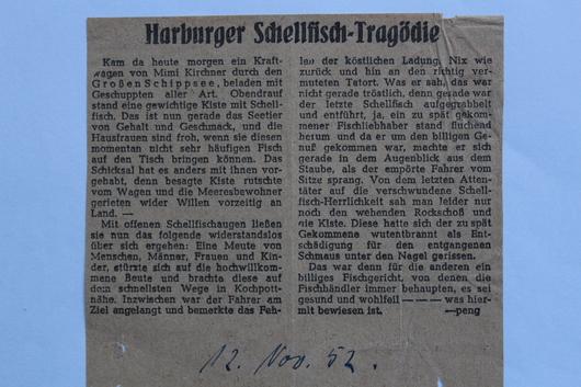 Zeitungsartikel vom Nov. 1952
